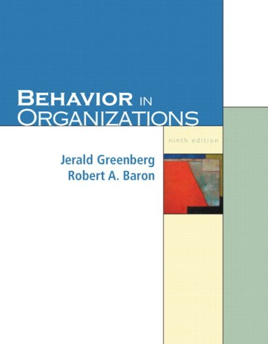 Behavior in Organizations  9th 2008 (Revised) edition cover