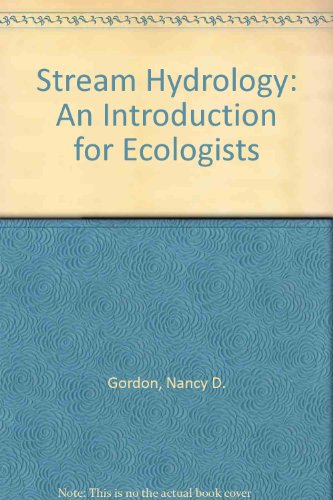 Stream Hydrology An Introduction for Ecologists 1st 1992 9780471930846 Front Cover