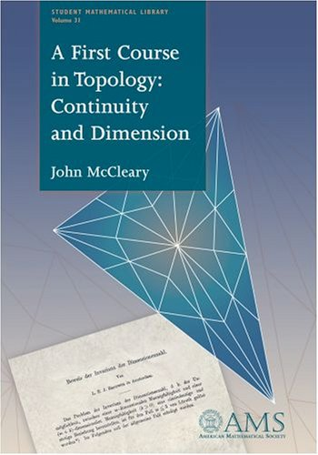 First Course in Topology Continuity and Dimension  2006 edition cover