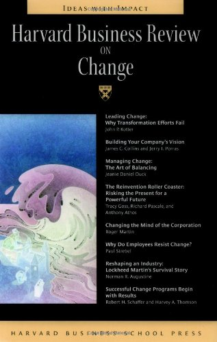 Harvard Business Review on Change   1998 edition cover