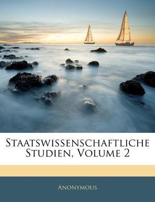 Staatswissenschaftliche Studien  N/A edition cover