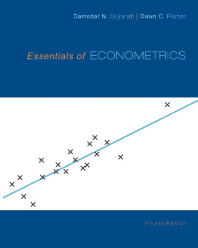 Essentials of Econometrics  4th 2010 edition cover