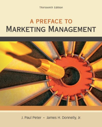 Preface to Marketing Management  13th 2013 edition cover