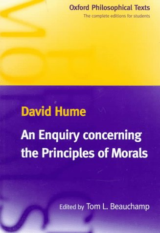 Enquiry Concerning the Principles of Morals   1998 9780198751847 Front Cover