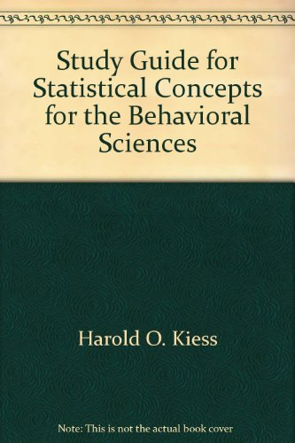 Statistical Concepts of Behavior Student Manual, Study Guide, etc. edition cover