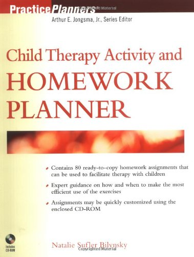 Child Therapy Activity and Homework Planner   2003 9780471256847 Front Cover