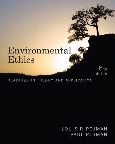 Environmental Ethics  6th 2012 edition cover