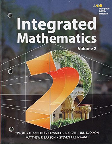 Hmh Integrated Math 2:   2014 9780544389847 Front Cover