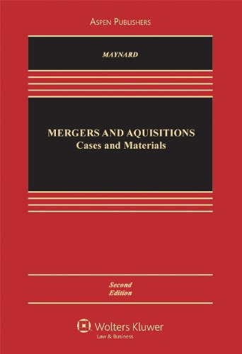 Mergers and Acquisitions Cases, Materials, and Problems 2nd 2009 (Revised) edition cover