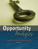 Opportunity Analysis Business Ideas, Identification and Evaluatin N/A edition cover