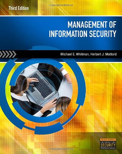 Management of Information Security  3rd 2011 edition cover