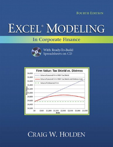 Excel Modeling in Corporate Finance  4th 2012 (Revised) edition cover