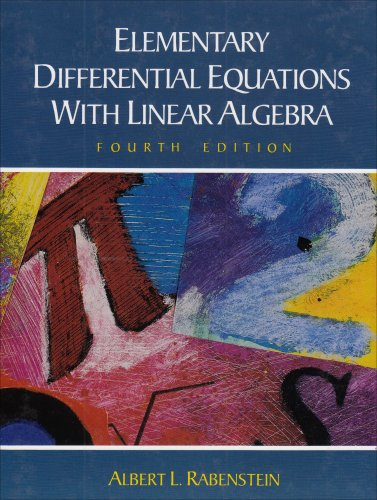Elementary Differential Equations with Linear Algebra  4th 1992 (Revised) edition cover