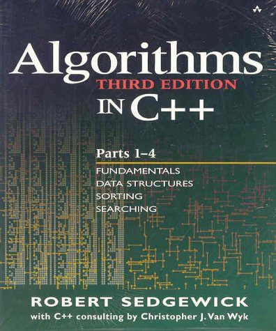 Algorithms in C++ Fundamentals, Data Structures, Sorting, Searching, and Graph Algorithms 3rd 2002 (Revised) edition cover