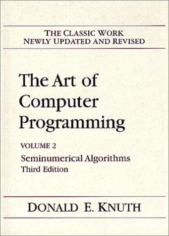 Art of Computer Programming 2. Seminumerical Algorithms  3rd 1998 (Revised) edition cover