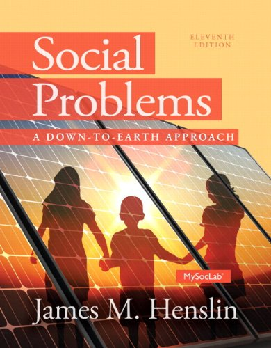 Social Problems A down to Earth Approach Plus NEW MySocLab with Pearson EText --Access Card Package 11th 2014 edition cover