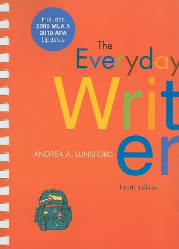 Everyday Writer with 2009 MLA and 2010 APA Updates  4th 2010 edition cover