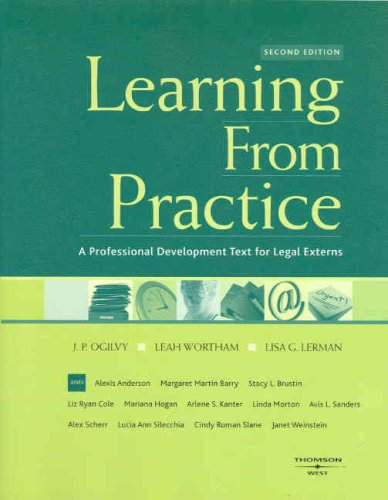Learning from Practice A Professional Development Text for Legal Externs 2nd 2007 (Revised) edition cover