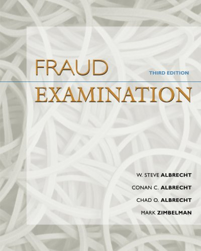 Fraud Examination  3rd 2009 edition cover