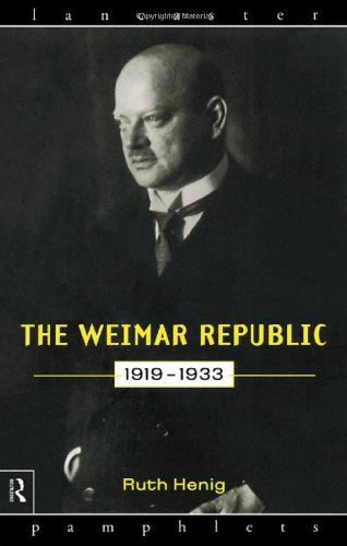 Weimar Republic, 1919-1933   1998 edition cover