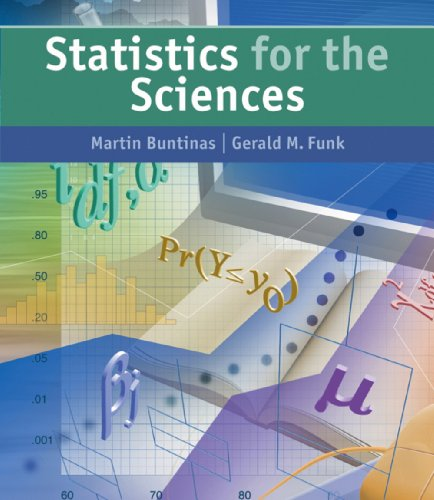 Statistics for Sciences   2005 9780534396848 Front Cover