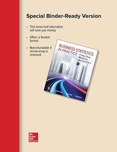 BUSINESS STATISTICS IN PRACTICE (LOOSE) N/A 9781259683848 Front Cover