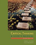 Critical Thinking A User's Manual 2nd edition cover
