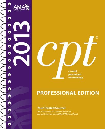 CPT 2013 Professional Edition   2012 edition cover