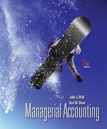Managerial Accounting  3rd 2012 edition cover