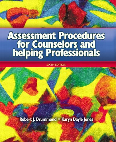 Assessment Procedures for Counselors and Helping Professionals  6th 2006 (Revised) edition cover