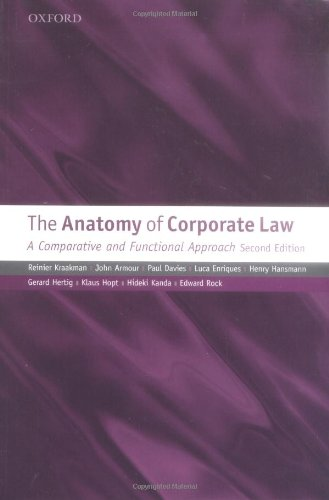 Anatomy of Corporate Law A Comparative and Functional Approach 2nd 2009 9780199565849 Front Cover