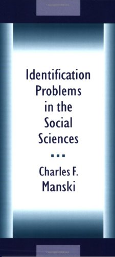 Identification Problems in the Social Sciences   1995 edition cover