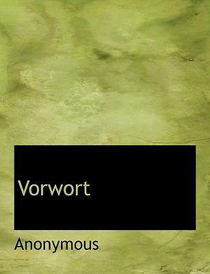 Vorwort  N/A 9781116071849 Front Cover