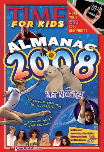 Almanac 2008 With Fact Monster  2007 (Revised) 9781933821849 Front Cover