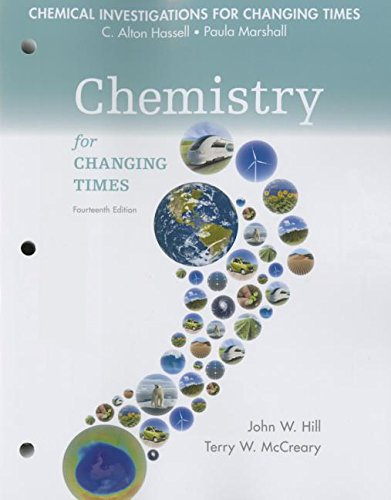 Chemical Investigations for Chemistry for Changing Times:   2015 edition cover