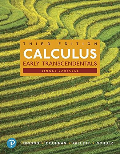 Calculus, Single Variable: Early Transcendentals  2018 9780134766850 Front Cover
