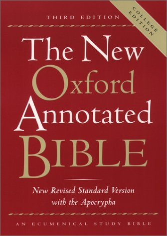 New Oxford Annotated Bible  3rd 2001 (Annotated) edition cover
