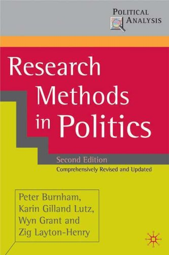 Research Methods in Politics  2nd 2008 (Revised) edition cover