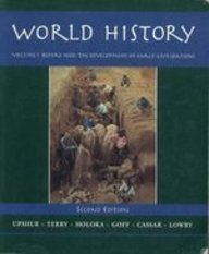 World History Before 1600 The Development of Great Civilizations 2nd 1995 9780314045850 Front Cover