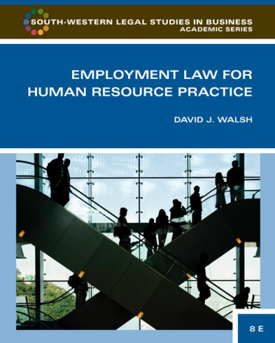 Employment Law for Human Resource Practice  3rd 2010 edition cover
