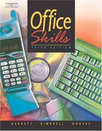 Office Skills  3rd 2003 (Revised) 9780538434850 Front Cover