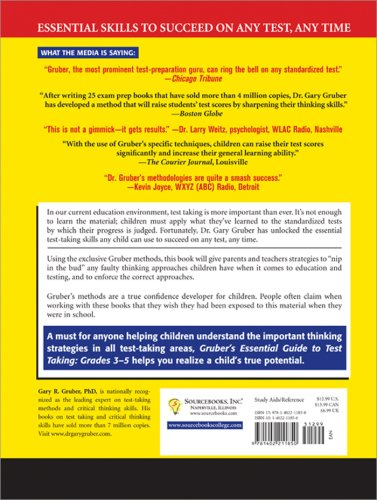 Gruber's Essential Guide to Test Taking, Grades 3-5   2008 9781402211850 Front Cover