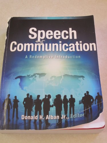 Speech Communication A Redemptive Introduction Revised edition cover