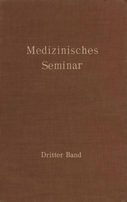 Medizinisches Seminar   1930 9783709152850 Front Cover