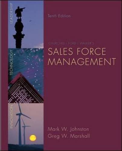 Sales Force Management  10th 2011 9780073404851 Front Cover