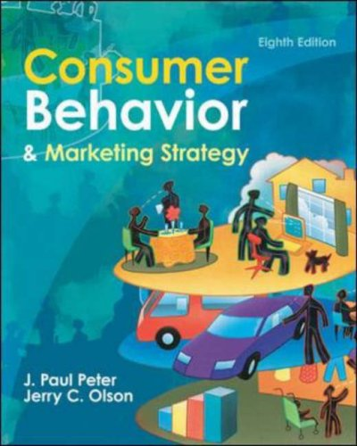Consumer Behavior and Marketing Strategy  8th 2008 (Revised) 9780073529851 Front Cover