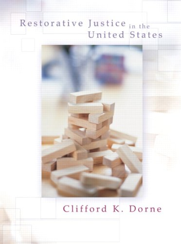 Restorative Justice in the United States An Introduction  2008 edition cover