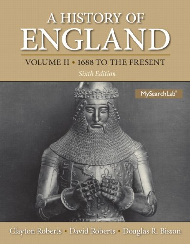 History of England, a , Volume 2 (1688 to the Present) Plus MySearchLab with EText -- Access Card Package  6th 2014 edition cover