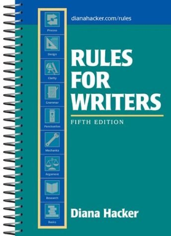 Rules for Writers 5th 2004 edition cover