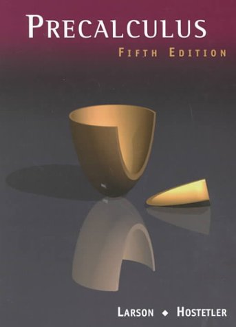 Precalculus  5th 2001 (Student Manual, Study Guide, etc.) 9780618052851 Front Cover